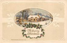 xms000313 - Christmas Post Card Old Vintage Antique Xmas Postcard