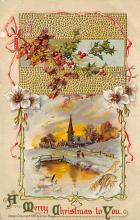 xms000315 - Christmas Post Card Old Vintage Antique Xmas Postcard