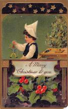 xms000317 - Christmas Post Card Old Vintage Antique Xmas Postcard