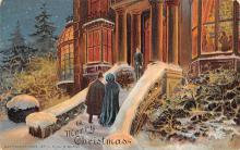 xms000331 - Christmas Post Card Old Vintage Antique Xmas Postcard