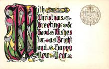 xms000333 - Christmas Post Card Old Vintage Antique Xmas Postcard