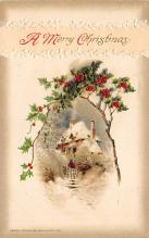 xms000335 - Christmas Post Card Old Vintage Antique Xmas Postcard