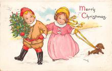xms000339 - Christmas Post Card Old Vintage Antique Xmas Postcard