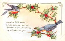 xms000341 - Christmas Post Card Old Vintage Antique Xmas Postcard
