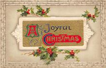 xms000347 - Christmas Post Card Old Vintage Antique Xmas Postcard