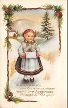 xms000351 - Christmas Post Card Old Vintage Antique Xmas Postcard