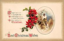 xms000355 - Christmas Post Card Old Vintage Antique Xmas Postcard