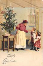 xms000359 - Christmas Post Card Old Vintage Antique Xmas Postcard