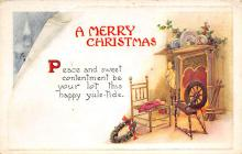 xms000363 - Christmas Post Card Old Vintage Antique Xmas Postcard