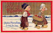 xms000365 - Christmas Post Card Old Vintage Antique Xmas Postcard