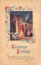 xms000369 - Christmas Post Card Old Vintage Antique Xmas Postcard