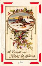 xms000371 - Christmas Post Card Old Vintage Antique Xmas Postcard