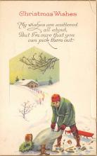 xms000373 - Christmas Post Card Old Vintage Antique Xmas Postcard