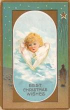 xms000375 - Christmas Post Card Old Vintage Antique Xmas Postcard