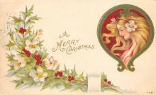 xms000379 - Christmas Post Card Old Vintage Antique Xmas Postcard