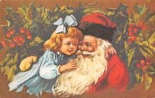 xms000381 - Christmas Post Card Old Vintage Antique Xmas Postcard