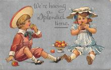 xms000383 - Christmas Post Card Old Vintage Antique Xmas Postcard
