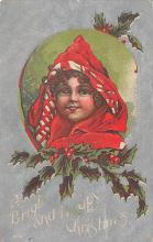 xms000389 - Christmas Post Card Old Vintage Antique Xmas Postcard