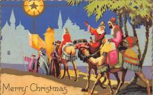 xms000391 - Christmas Post Card Old Vintage Antique Xmas Postcard