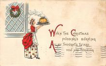 xms000393 - Christmas Post Card Old Vintage Antique Xmas Postcard
