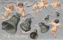 xms000403 - Christmas Post Card Old Vintage Antique Xmas Postcard