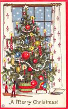 xms000409 - Christmas Post Card Old Vintage Antique Xmas Postcard