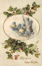 xms000411 - Christmas Post Card Old Vintage Antique Xmas Postcard