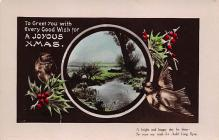 xms000423 - Christmas Post Card Old Vintage Antique Xmas Postcard