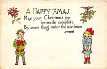 xms000427 - Christmas Post Card Old Vintage Antique Xmas Postcard