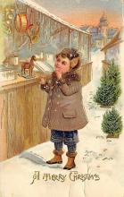 xms000435 - Christmas Post Card Old Vintage Antique Xmas Postcard