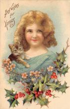 xms000445 - Christmas Post Card Old Vintage Antique Xmas Postcard