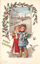 xms000449 - Christmas Post Card Old Vintage Antique Xmas Postcard
