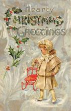 xms000451 - Christmas Post Card Old Vintage Antique Xmas Postcard