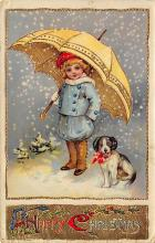 xms000453 - Christmas Post Card Old Vintage Antique Xmas Postcard