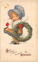 xms000459 - Christmas Post Card Old Vintage Antique Xmas Postcard
