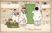 xms000463 - Christmas Post Card Old Vintage Antique Xmas Postcard