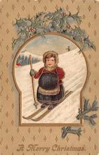 xms000465 - Christmas Post Card Old Vintage Antique Xmas Postcard