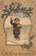xms000467 - Christmas Post Card Old Vintage Antique Xmas Postcard