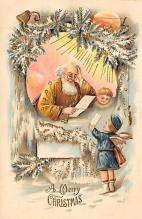 xms000469 - Christmas Post Card Old Vintage Antique Xmas Postcard
