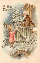 xms000471 - Christmas Post Card Old Vintage Antique Xmas Postcard