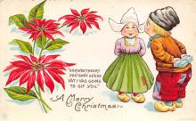 xms000479 - Christmas Post Card Old Vintage Antique Xmas Postcard