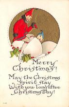 xms000481 - Christmas Post Card Old Vintage Antique Xmas Postcard