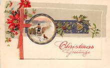 xms000487 - Christmas Post Card Old Vintage Antique Xmas Postcard