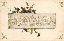 xms000493 - Christmas Post Card Old Vintage Antique Xmas Postcard