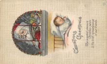 xms000513 - Christmas Post Card Old Vintage Antique Xmas Postcard