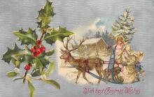 xms000519 - Christmas Post Card Old Vintage Antique Xmas Postcard