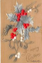 xms000523 - Christmas Post Card Old Vintage Antique Xmas Postcard