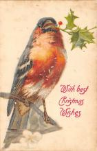 xms000525 - Christmas Post Card Old Vintage Antique Xmas Postcard