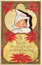 xms000527 - Christmas Post Card Old Vintage Antique Xmas Postcard