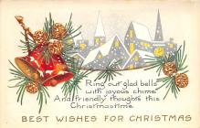 xms000539 - Christmas Post Card Old Vintage Antique Xmas Postcard